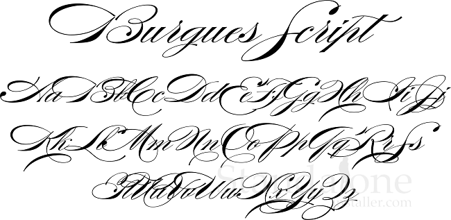 Popular For Over A 100 Years Burgues Script Is Another Stunning Calligraphy Font That Worth Checking Out It Has Been Source Of Inspiration