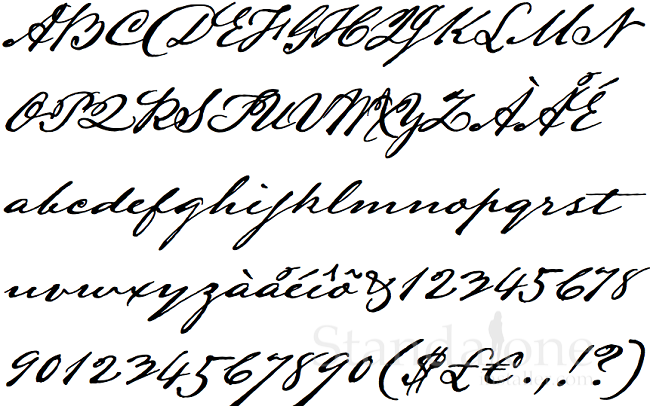 This Is A Classic And Stunning Hand Writing Calligraphy Font Style Of Mirabeau Buonaparte Lamar His Stylish Elegant Results To Wonderful