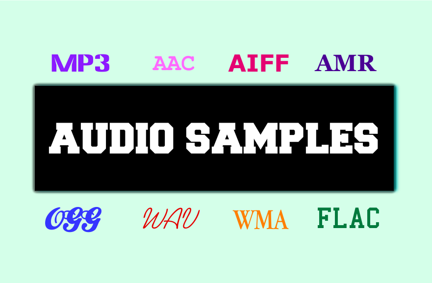 Big list of sample audio files for testers