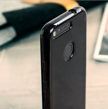 The FlexiShield Solid Black Gel Case